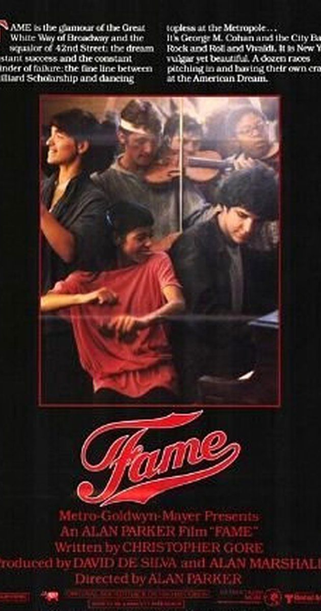 Directed by Alan Parker.  With Eddie Barth, Irene Cara, Lee Curreri, Laura Dean. A chronicle of the lives of several teenagers who attend a New York high school for students gifted in the performing arts.
