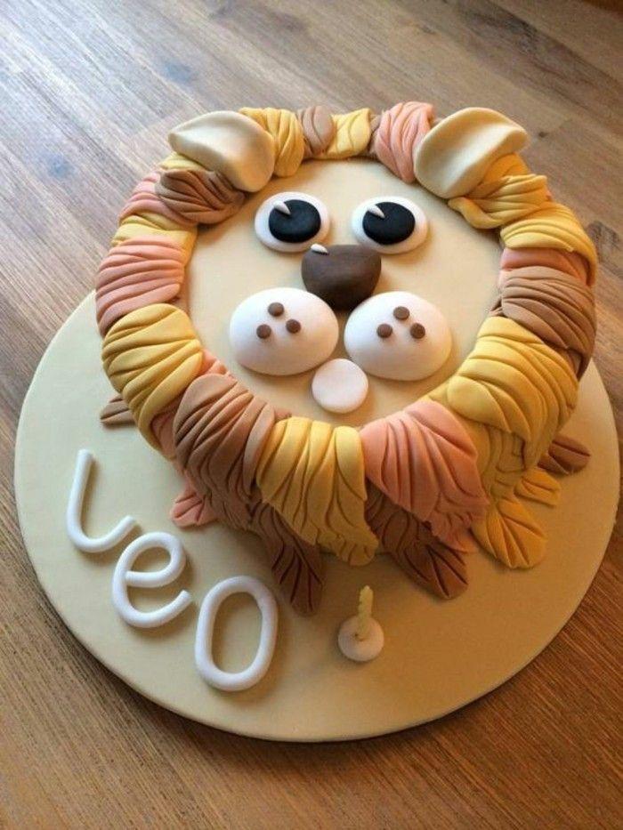 boys birthday cake children lion Birthday Cake Pinterest