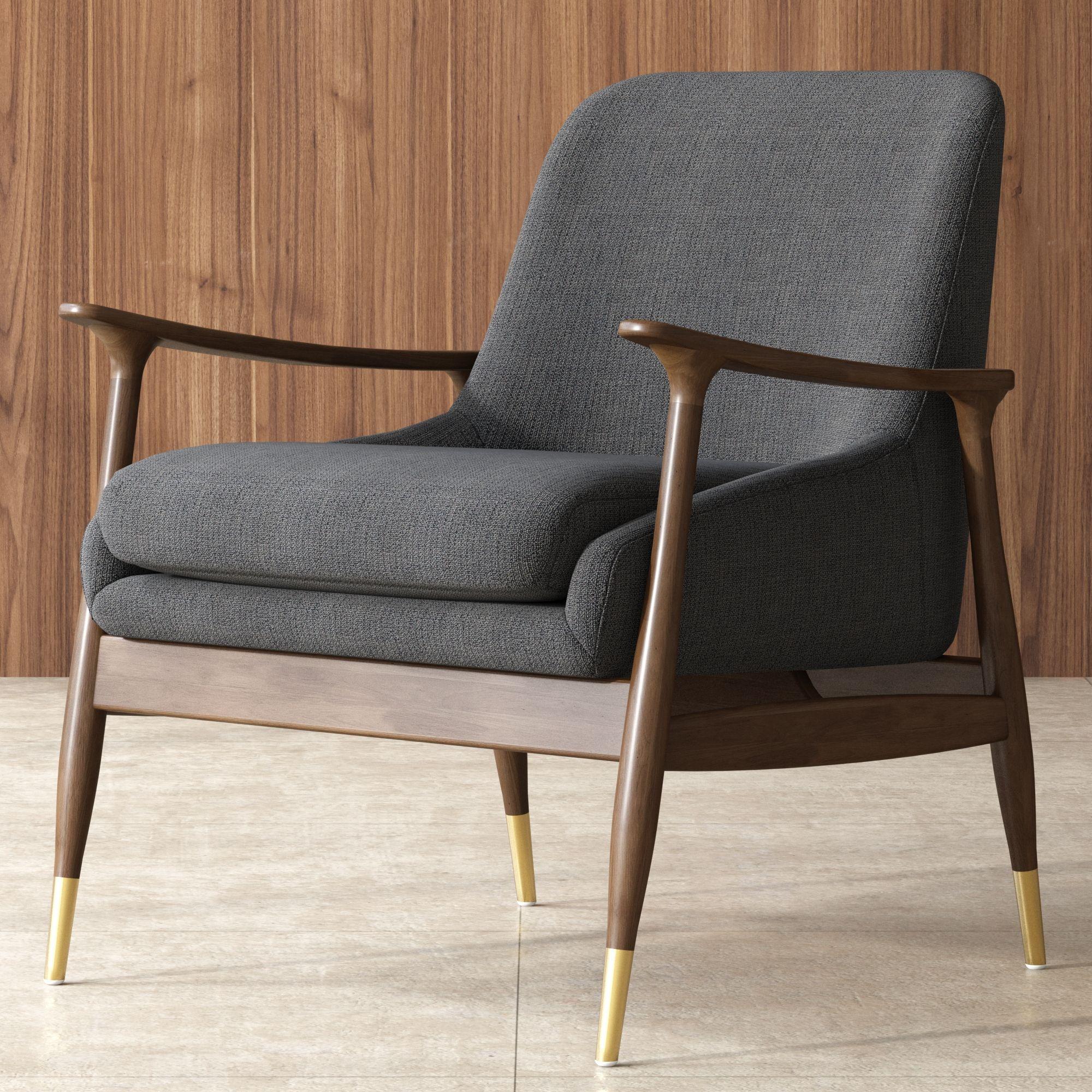 Desmond Armchair Stone Gray Castlery In 2021 Armchairs Living Room Modern Mid Century Modern Armchair Mid Century Armchair