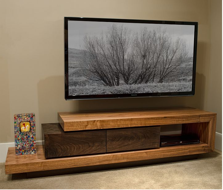 Lounge television console pinterest for Meuble tele coin
