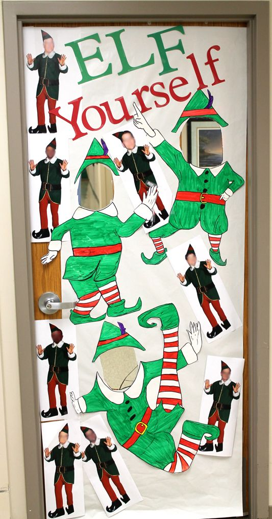 Elf Yourself Insert Your Face Picture Board Office