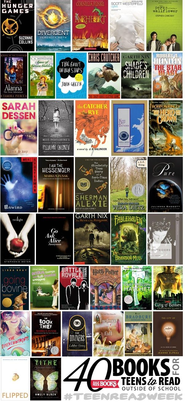 Top 40 books for Teens to read