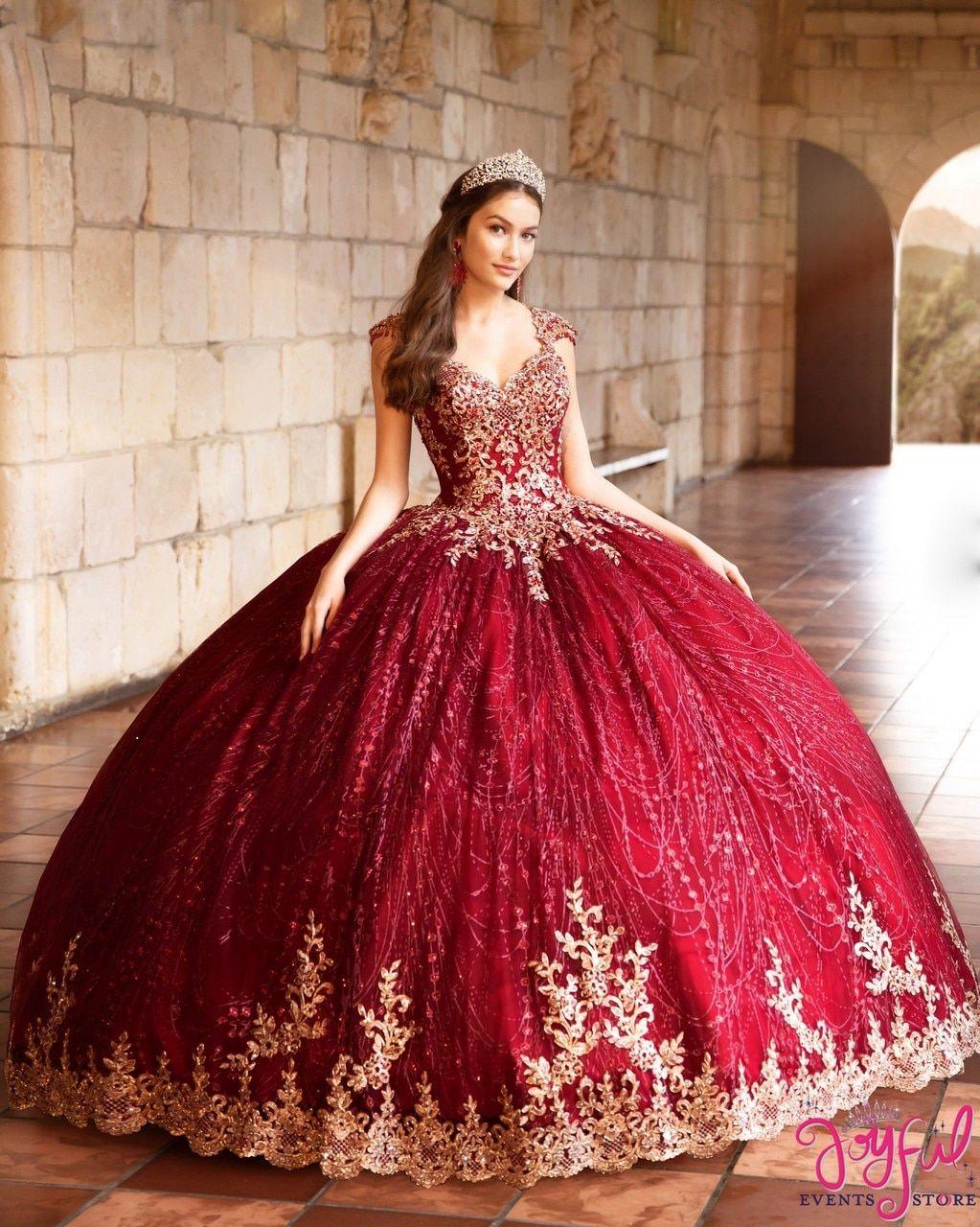 Wine/Gold Quinceanera Dress #PR21964WGD -   15 dress Quinceanera burgundy ideas