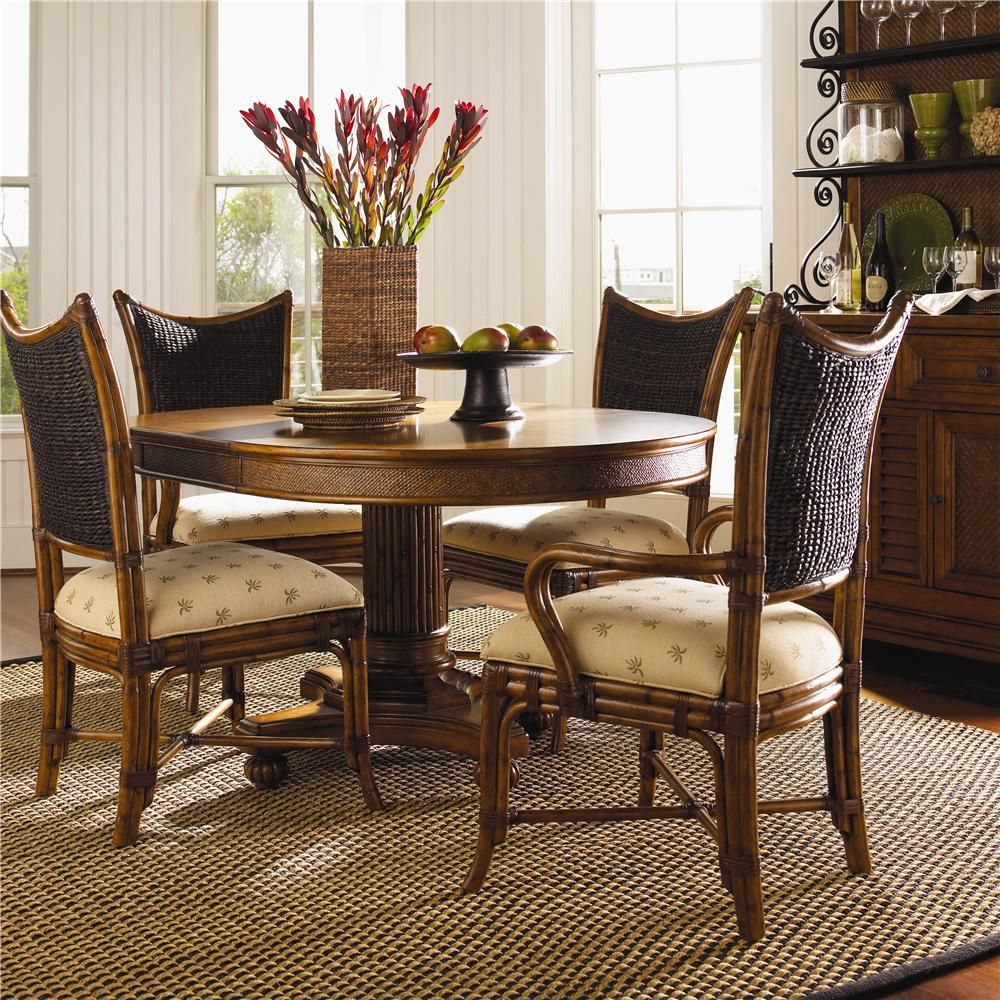 Island estate 5 piece dining cayman table mangrove chairs set by island estate 5 piece cayman kitchen table dining set by tommy bahama home sxxofo
