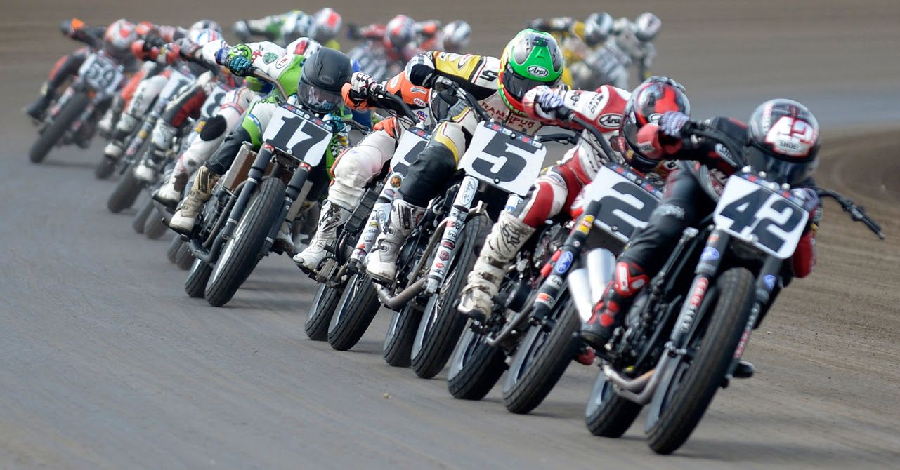 42 Brian Smith Flat track racing, Motorcycle racing