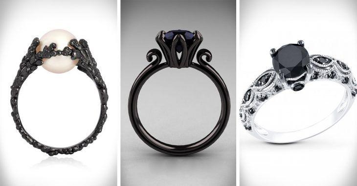 30 Originales anillos de compromiso que volverán loca a cualquier chica que ame el negro