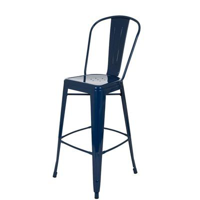 Ebern Designs Linnie Counter Height Bar Stool Color Navy Blue In 2020 Counter Height Bar Stools Counter Height Bar Bar Stools