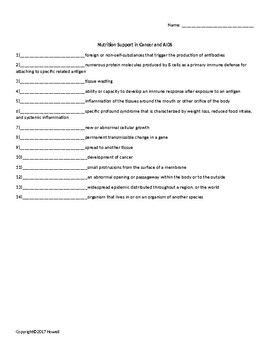 photograph regarding Printable Nutrition Quiz named Vitamins Guidance within just Most cancers and Helps Worksheet for Nutrients