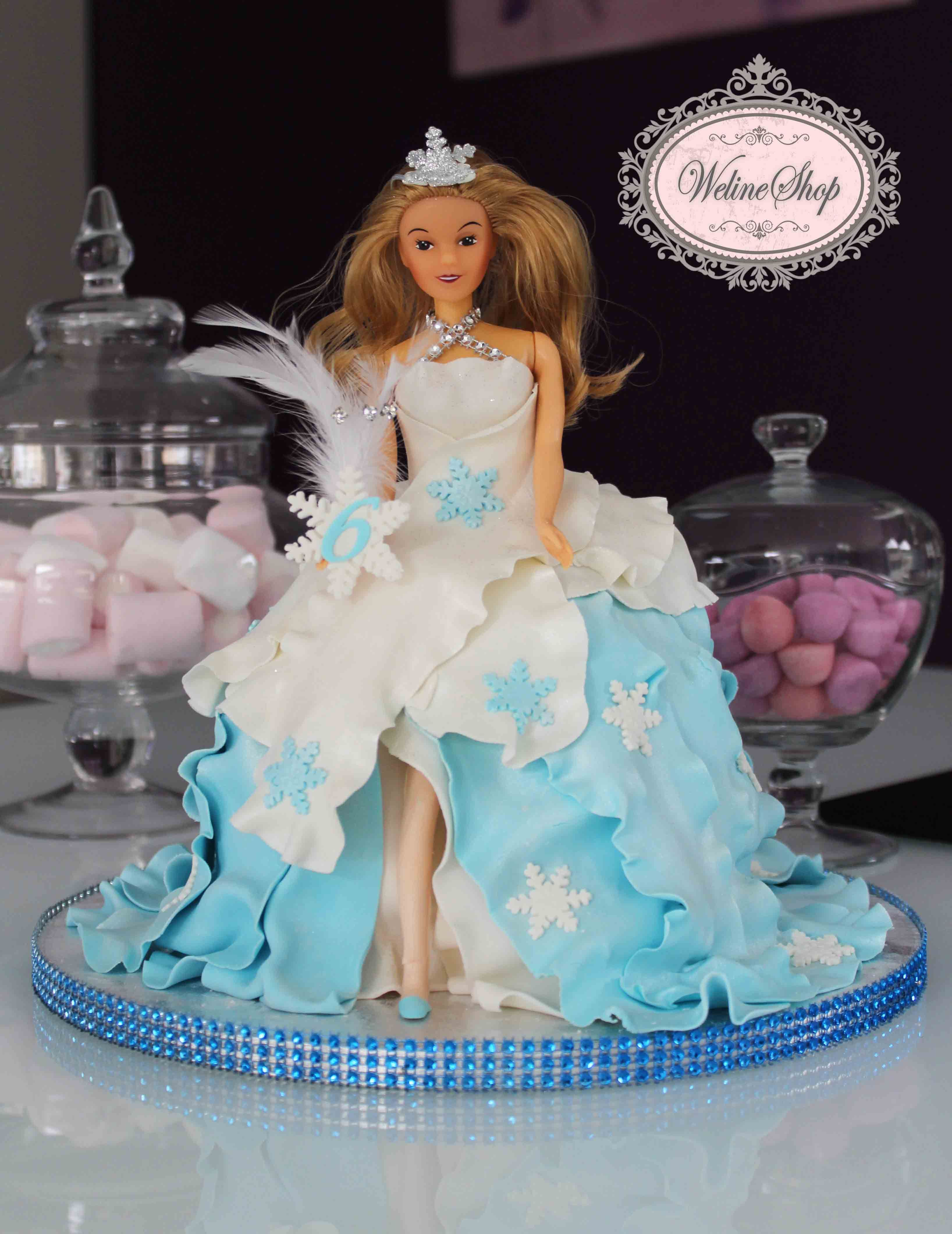 weline shop gteau barbie reine des neige - Barbie La Reine Des Neiges