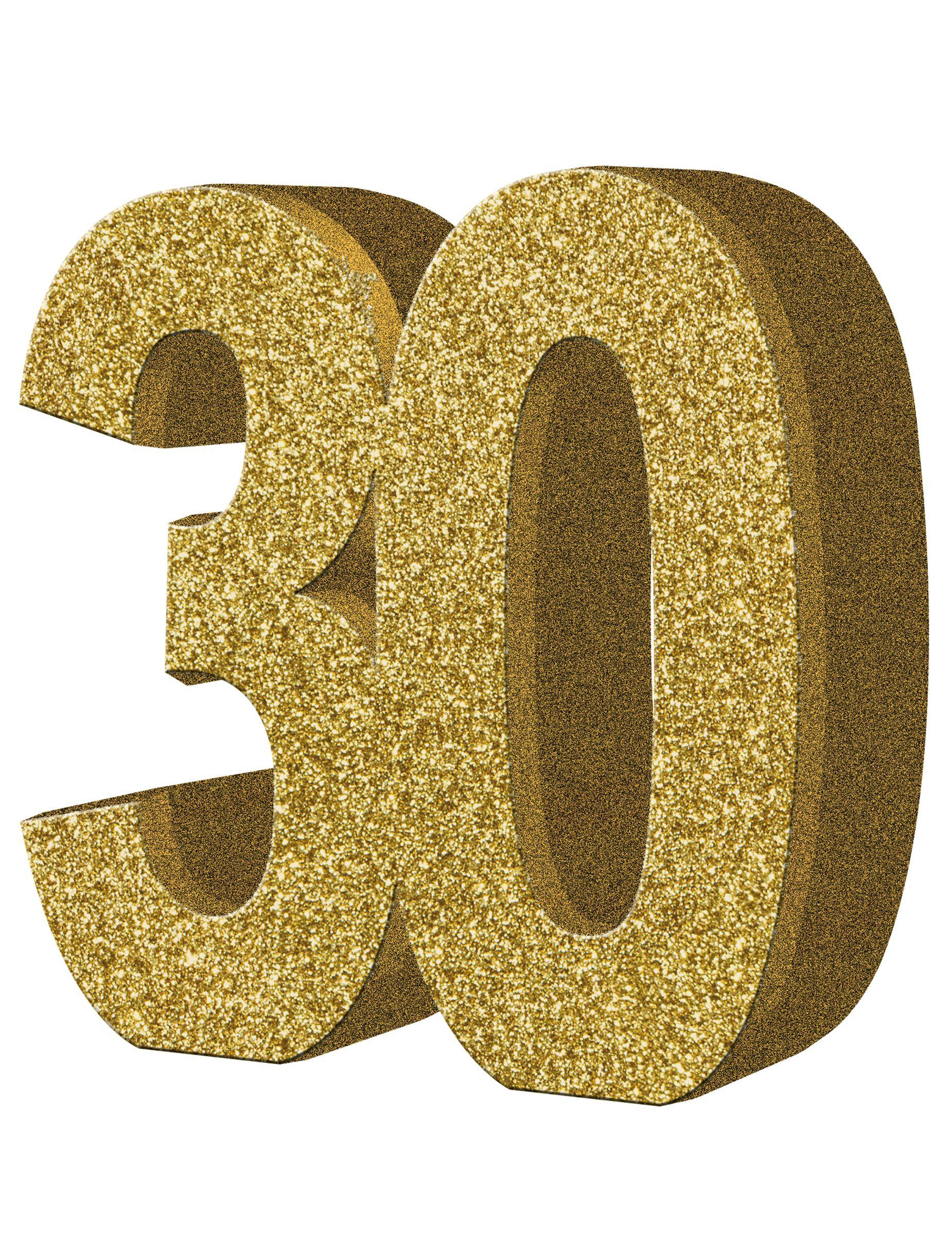 Decoración de mesa 30 años: Este centro de mesa es el número 30 on