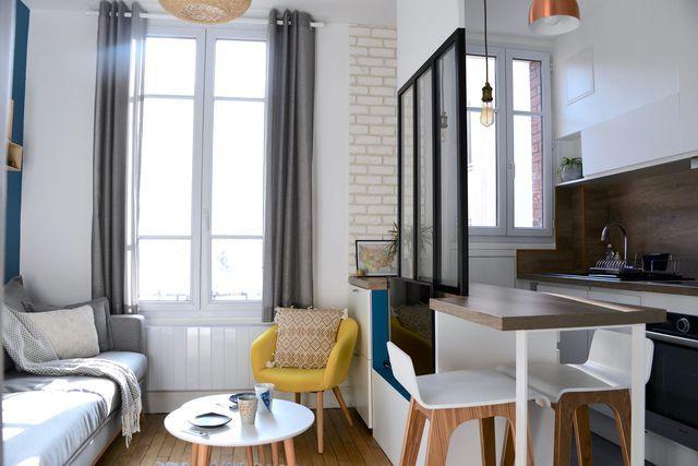 Studio Boulogne  un 28 m2 rénové sur mesure Small spaces, Studio - renovation electricite maison ancienne