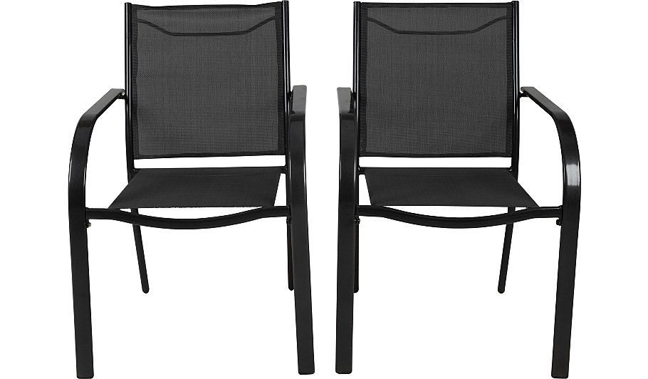 miami 2 stacking patio chairs charcoal garden patio chairs rh pinterest ca