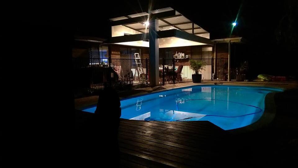 Diy semienclosed patio alfresco night build photo