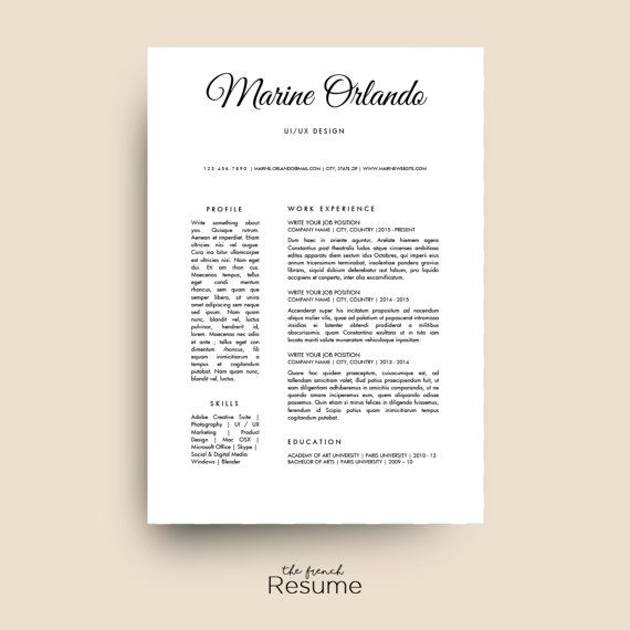 Simple Resume Template Cv Design Cover Letter  Ref For Word