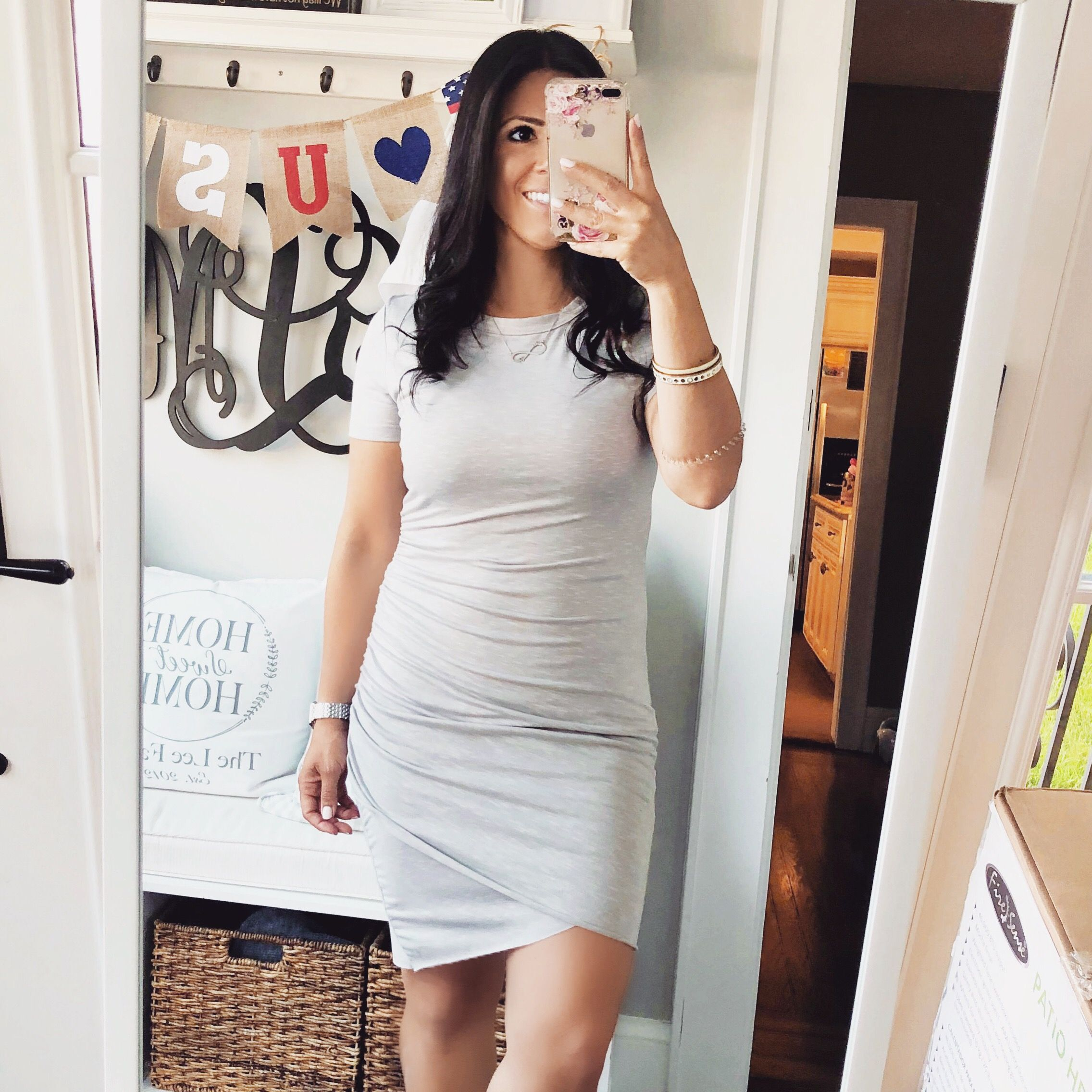 Easy Comfy T Shirt Dress Wrap Dress Midi Fashion Shirt Dress [ 2272 x 2272 Pixel ]