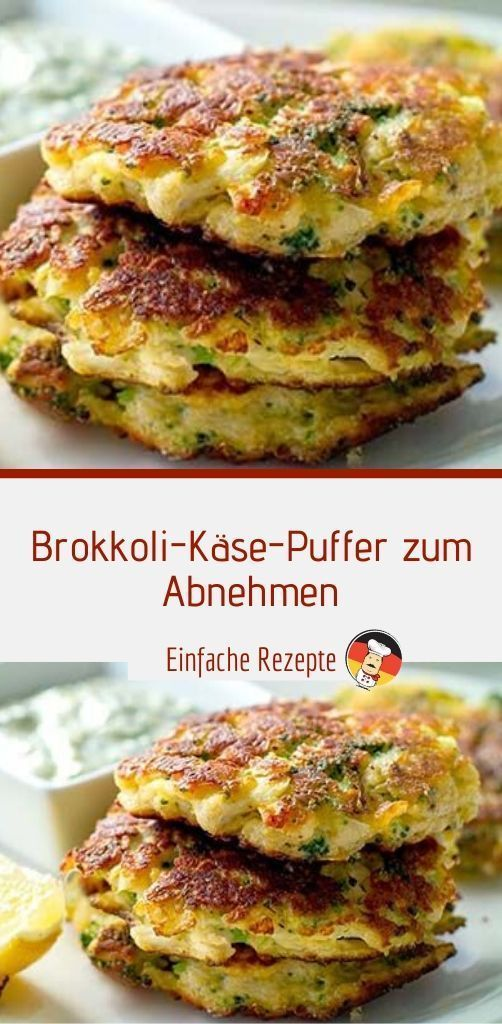 Brokkoli-Käse-Puffer zum Abnehmen | Sprainnews - Brokkoli-Käse-Puffer zum Abn... - Glover&GesundesEssen