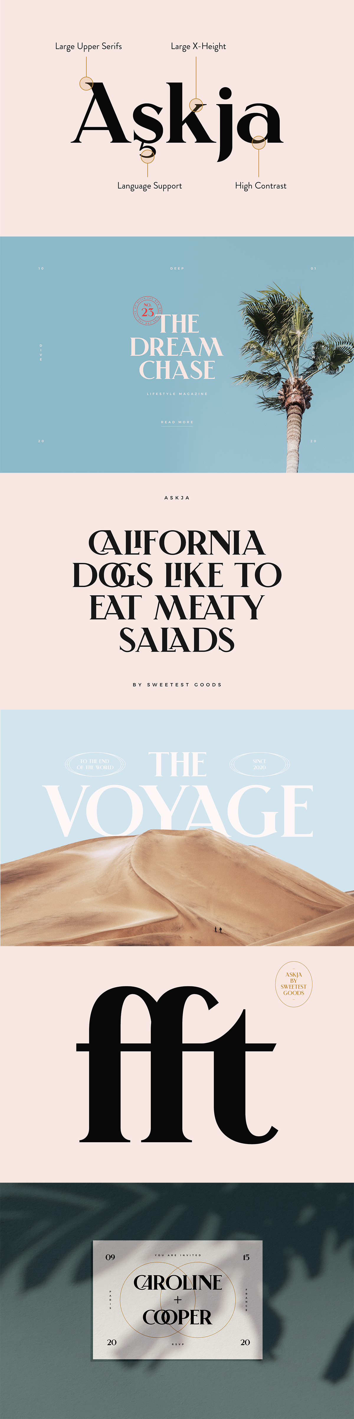Askja – Modern Typeface + Free Logos