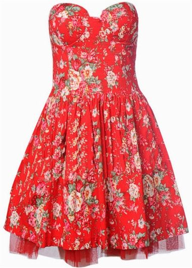 English country garden cocktail dresses