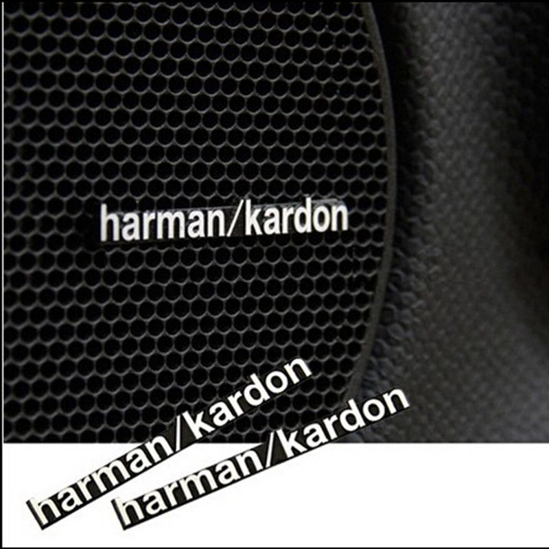 car speaker sticker harman kardon for bmw e46 e52 e53 m3 m5 m6 x1 x3 x5 x6 mercedes audio. Black Bedroom Furniture Sets. Home Design Ideas