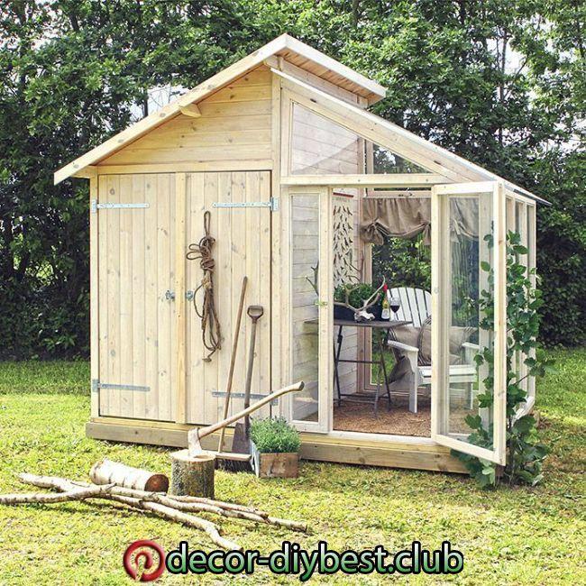 cottage garten Plus Gertehaus (2,08 x 3,6 m, Mit Glasanbau