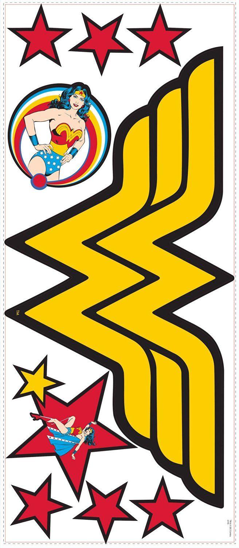 Roommates Rmk2398Gm Classic Wonder Woman Logo Peel And Stick Giant ...