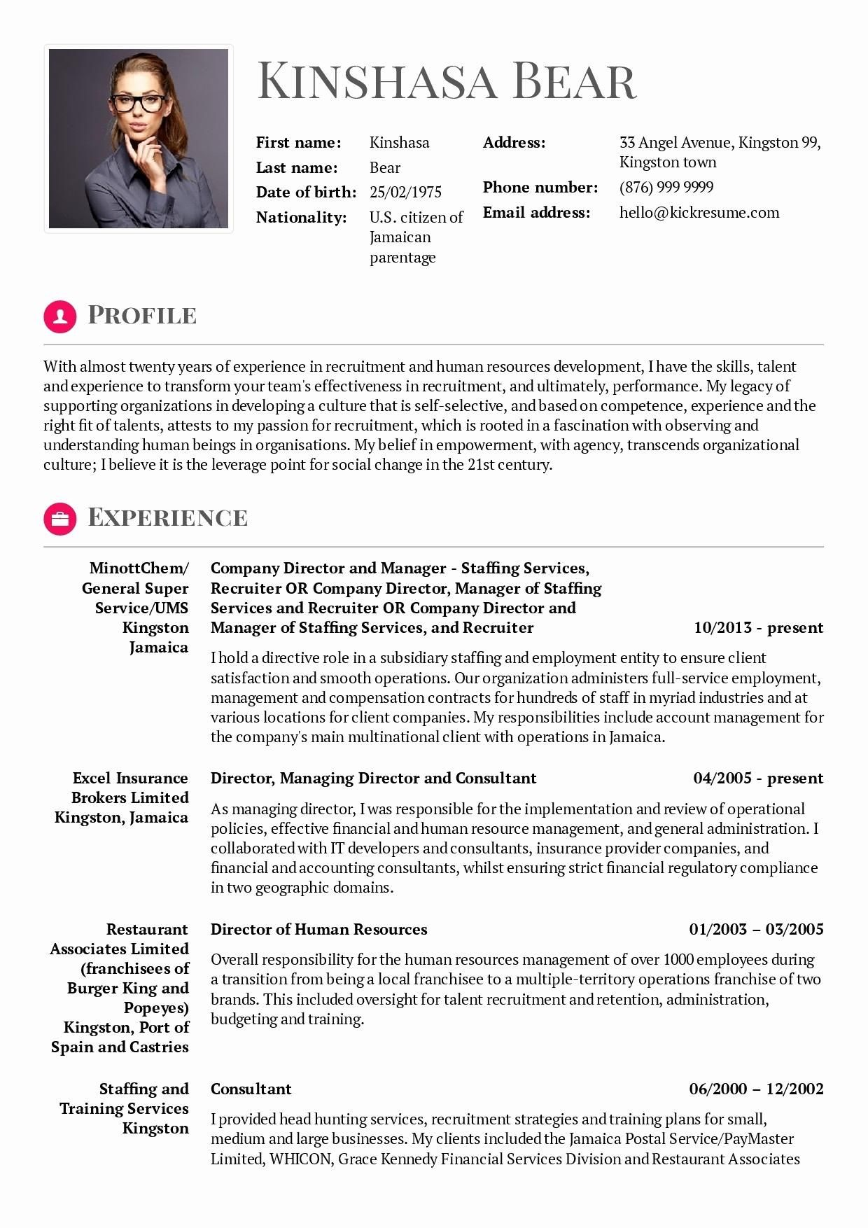 68 awesome photos of example of resume hrm