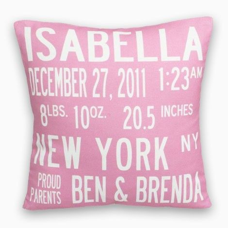 Birth announcement pillow the perfect personalized baby gift birth announcement pillow the perfect personalized baby gift available at london jewelers 125 negle Gallery