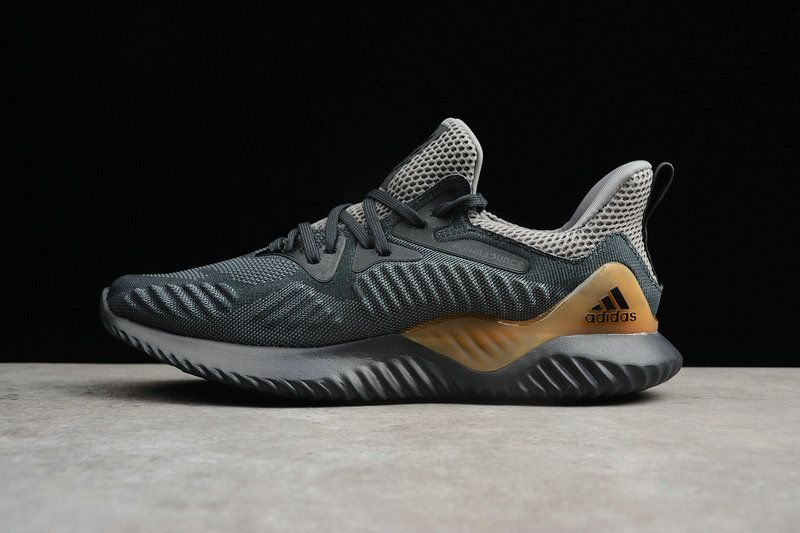 UK Trainers 2018 Men Adidas Alphabounce HPC AMS 3M Charcoal Grey Gold CZ4762 cb6c961cff1