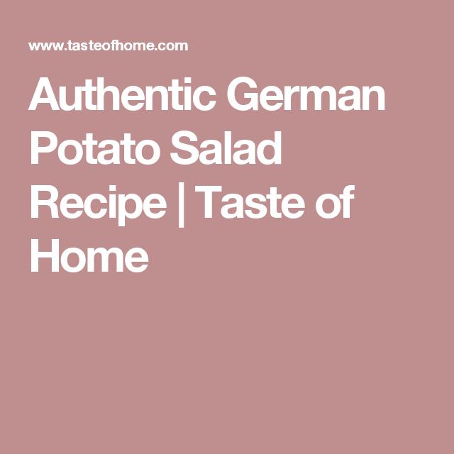 Authentic German Potato Salad Recipe   Taste of Home