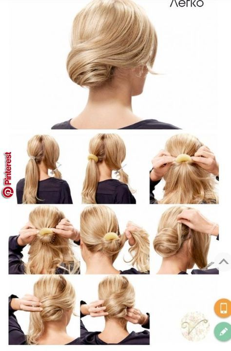 Recogidos With Images Hair Tutorial Pinterest Hair Braided Hairstyles Easy