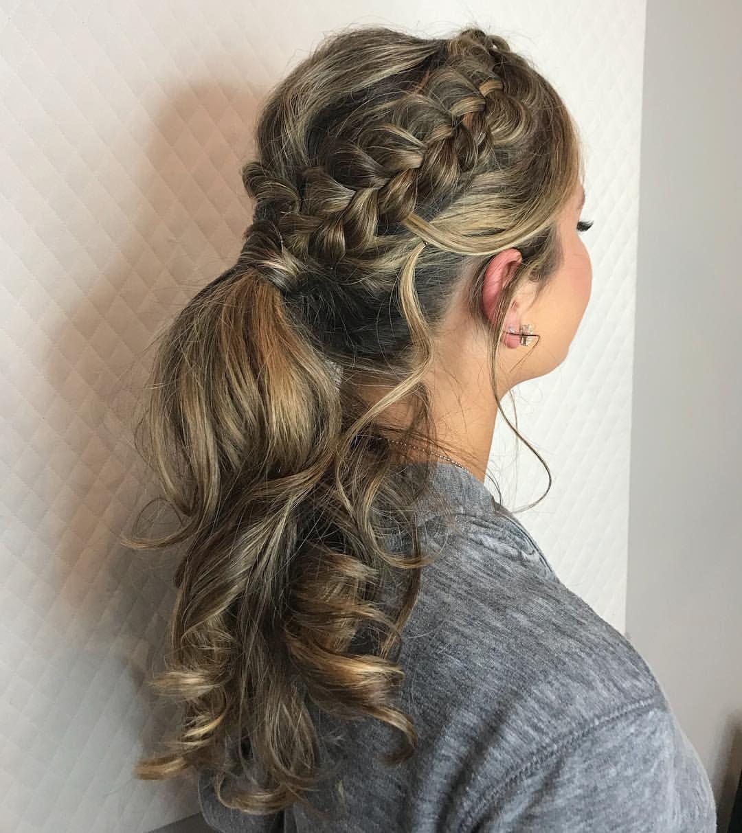 Prom ponytail! #ponytail #promhair #updo #dutchbraid ...