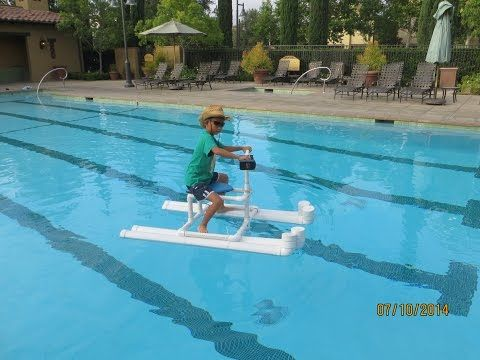 hydrojet powered personal pool pontoon from pvc kids pinterest projekte basteln und ideen. Black Bedroom Furniture Sets. Home Design Ideas