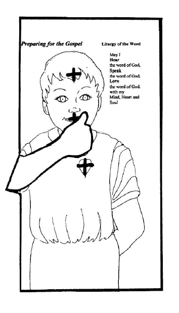 catholic coloring pages mass - photo#22