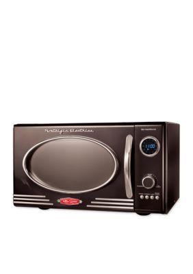 Nostalgia Retro Series 0 9 Cubic Foot Microwave Oven