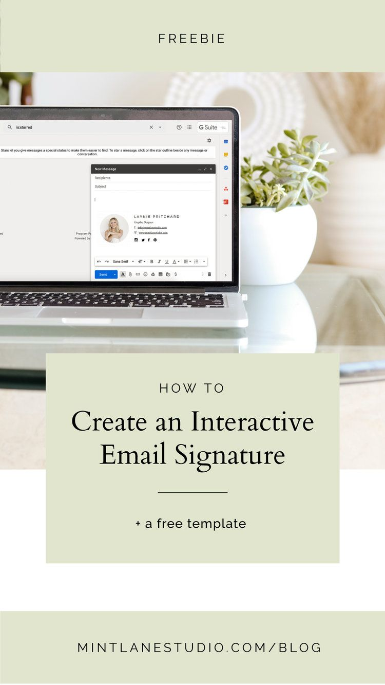 How To Create An Email Signature For Gmail A Free Template