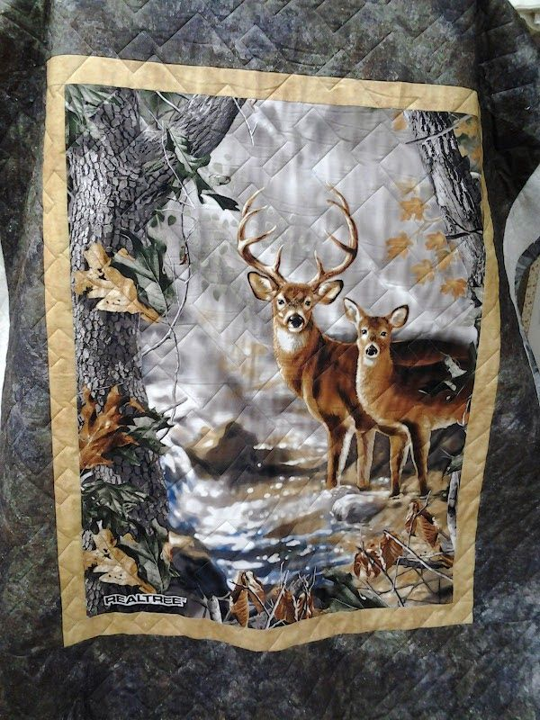 Real Tree Quilt Quilted4you Kim S Realtree Deer Quilt