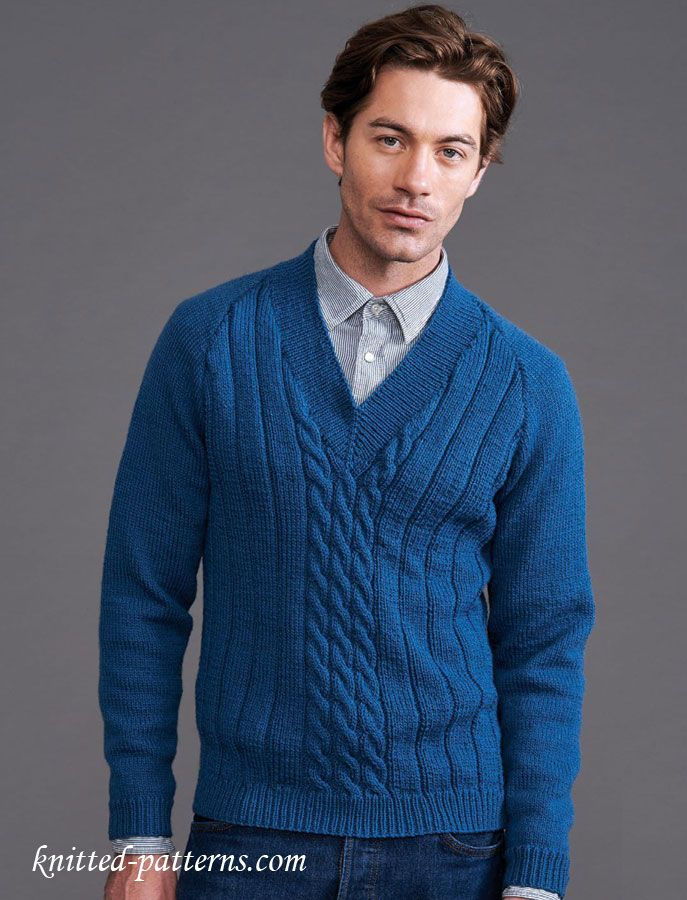 Free Men\'s Jumper Knitting Patterns | Charl knitted ideas ...