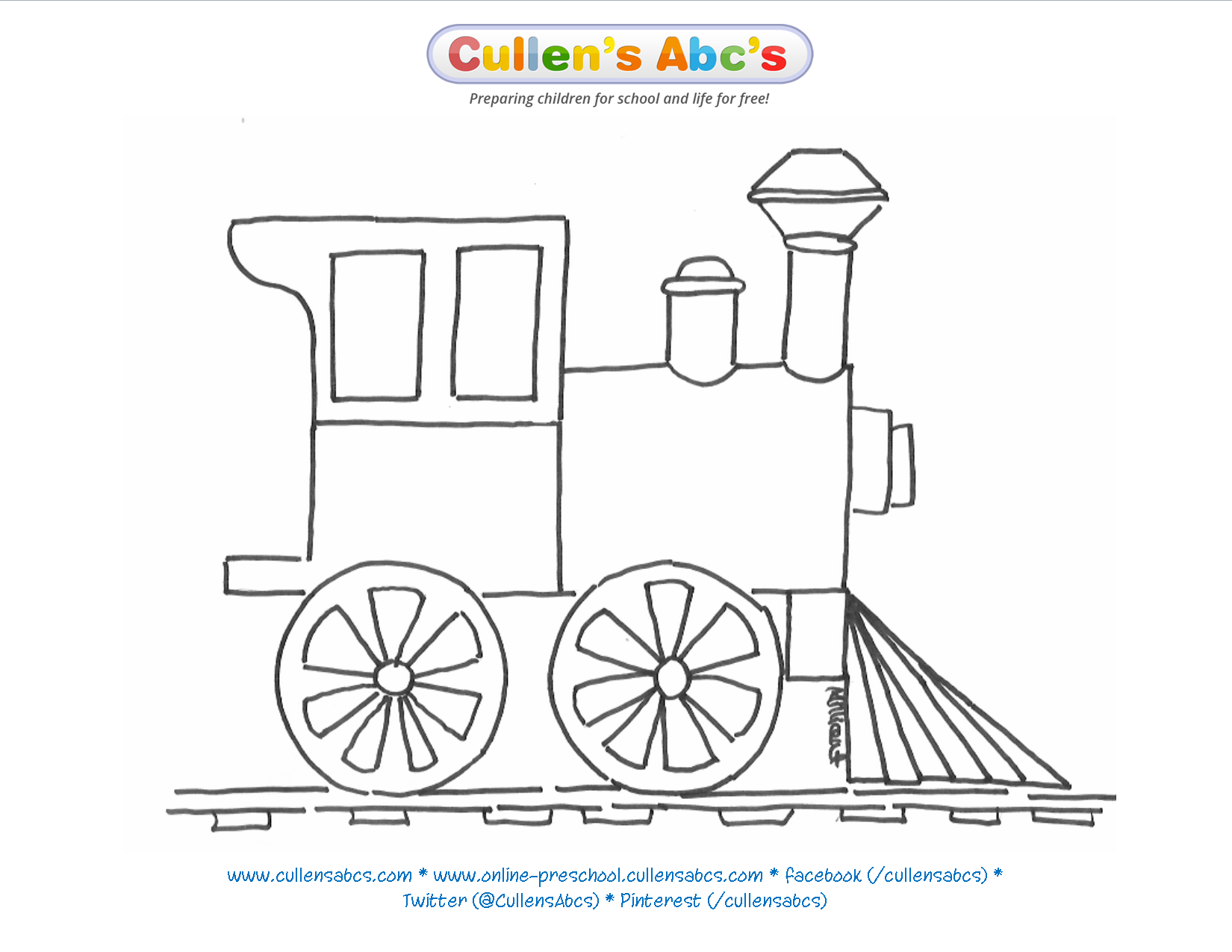 Train Coloring Sheet | The Polar Express | Cullen\'s Abc\'s The ...