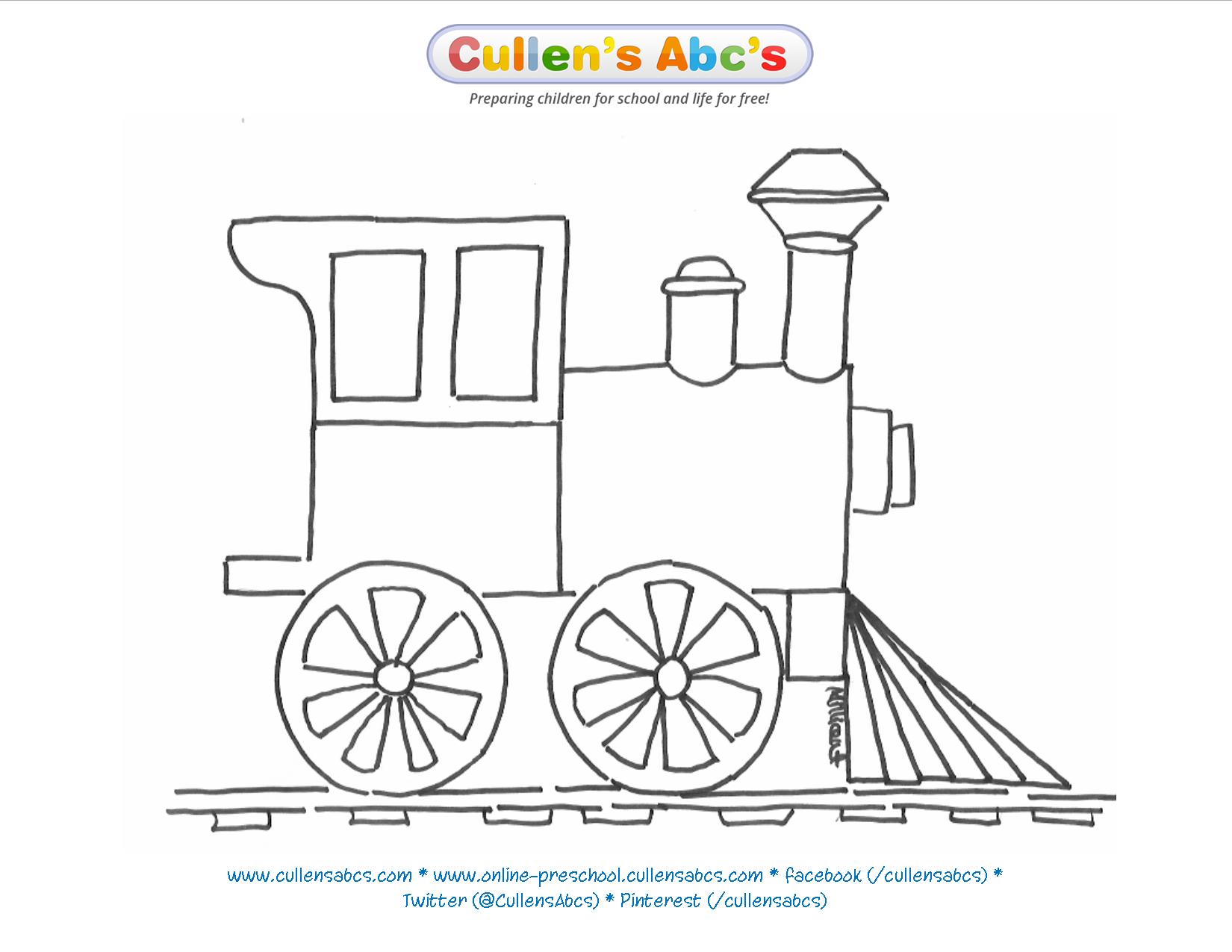 Train Coloring Sheet | The Polar Express | Cullen\'s Abc\'s The ...