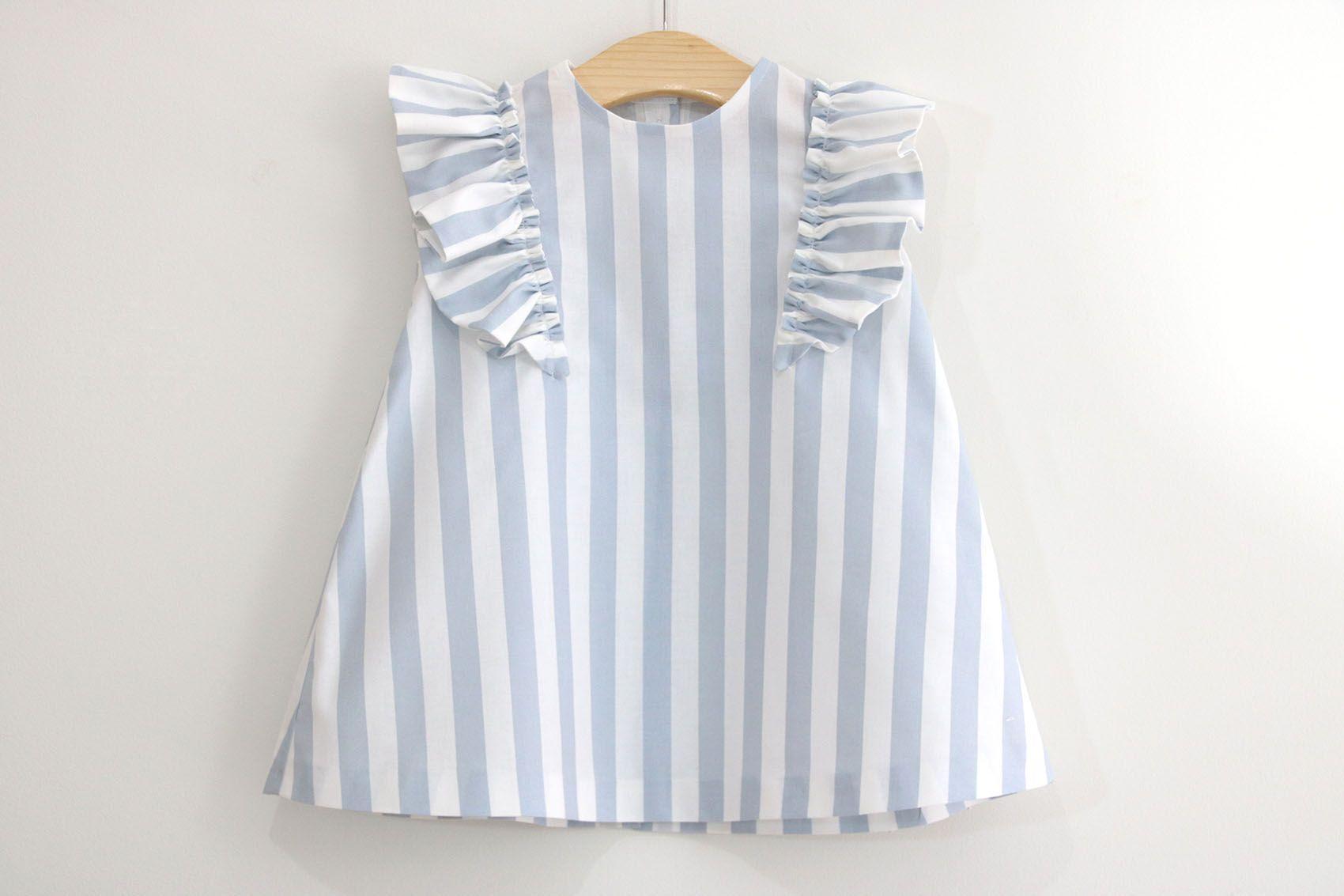 10ddc2145 Costura  Vestido con volantes para niñas (patrones gratis talla hasta 8 años)