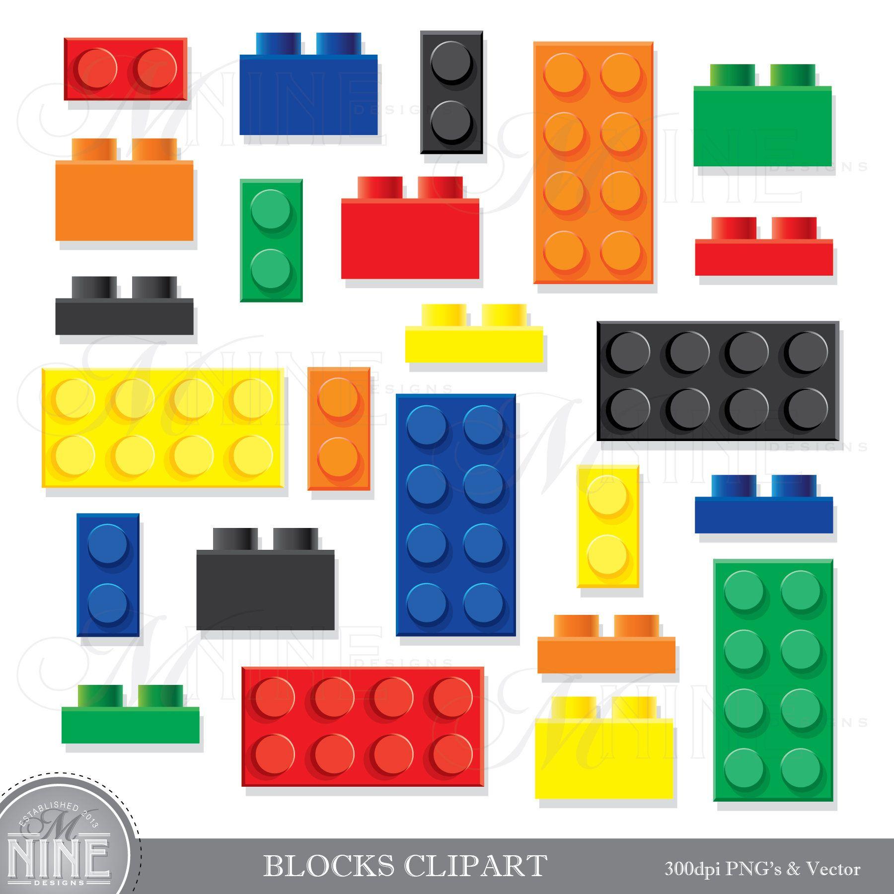 Building Blocks Clip Art Building Bricks Clipart Downloads Etsy In 2021 Clip Art Scrapbook Printing Photo Album Scrapbooking