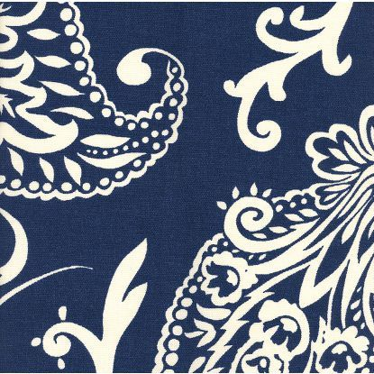 imperial paisley fabric - ultramarine; from Company C