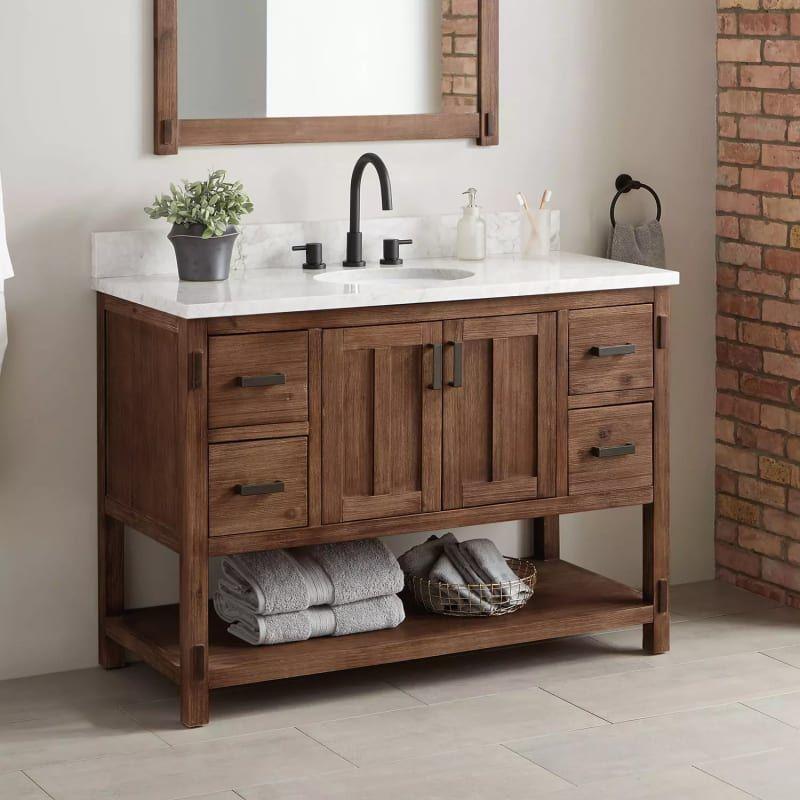 Signature Hardware 438512 Morris 48 Wood Single Vanity Cabinet