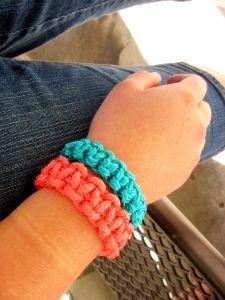 Girl's camp rope bracelets