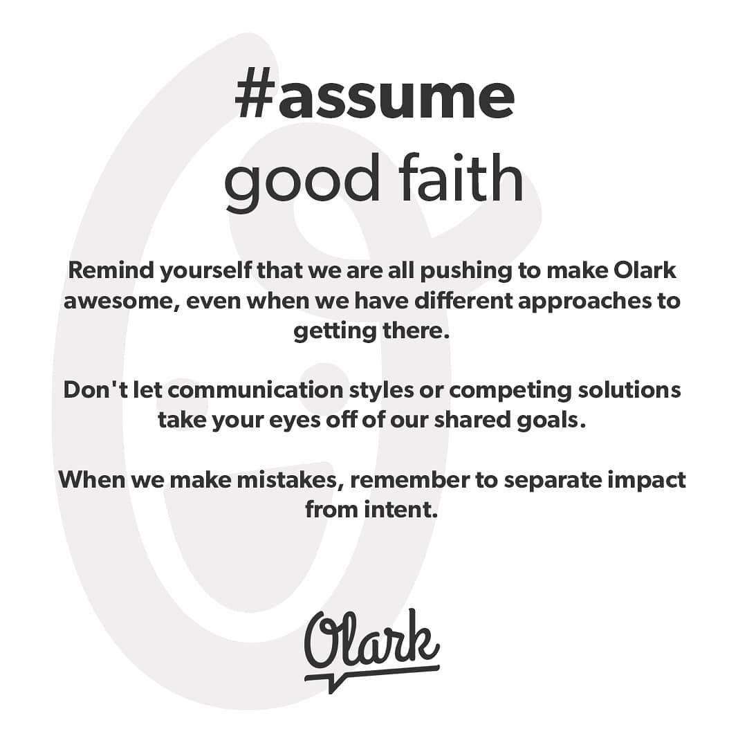 How to Assume Good Faith