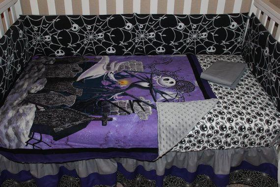 Jack Skellington Nightmare Before Christmas 5 Piece Crib Bedding Set Crib Bedding Sets Crib Bedding Christmas Bedding