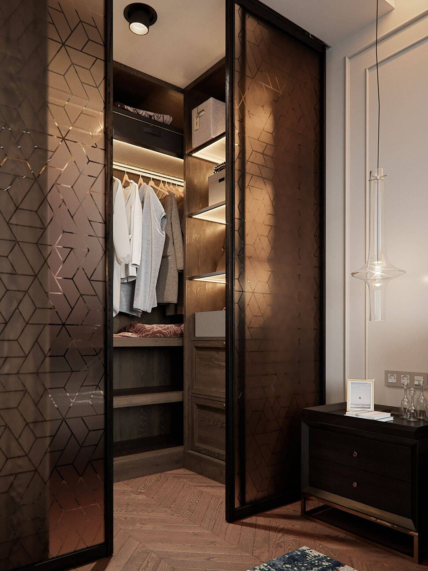 Modern Bedroom Clothes Cabinet Wardrobe Design in 2020 ...