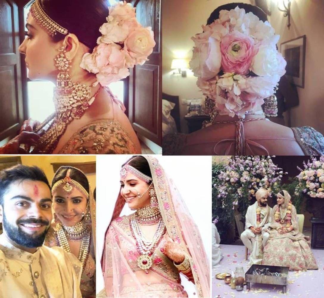 Anushka Sharma Looked Royal In Pink Floral Lehenga By Sabyasachi Floral Lehenga Wedding Dresses Cinderella Indian Bridal