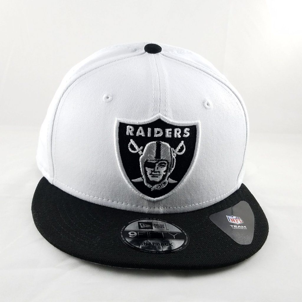 20f79f7ad League Basic Oakland Raiders White Black Cap