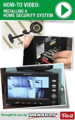 how to install a home security system http www menards com main